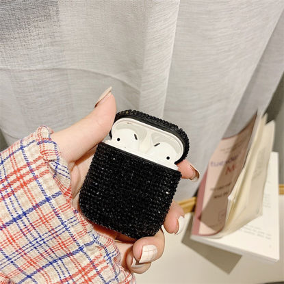 Picture of Silicone Case For Airpods Mini Rhinestone Anti-Lost Cover Case