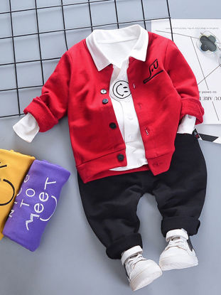 Picture of Baby Boy's 3 Pcs Set Casual Style Fashion Outfits