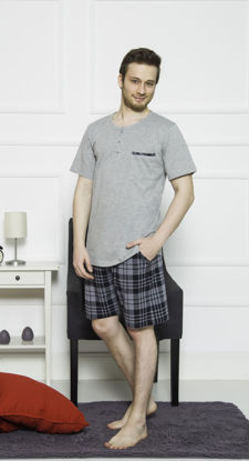Picture of MEN SHORTS GRAY MELANGE COTTON