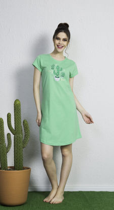Picture of WOMEN TUNIC GREEN COTTON