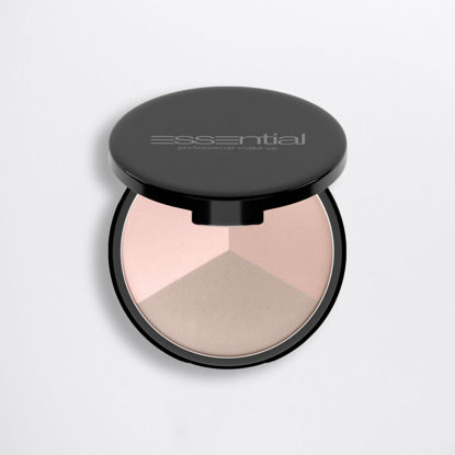 Picture of NAKED - COMPACT FACE POWDER - LIGHT WARM  - TRIO10