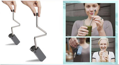 Picture of Final Reusable Foldable Stainless Steel Straw Outdoor Portable Straw Designed For Outdoor Traveler