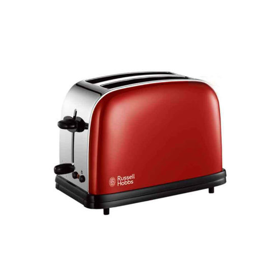 Picture of Russell Hobbs Toaster 2 Slot RH-18951 Red 6 Burning Steps Cord Storage Lid
