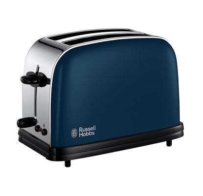 Picture of Russell Hobbs 18958-56 Toaster, blue color, 1100 W, Stainless Steel, 2 Slots, Royal