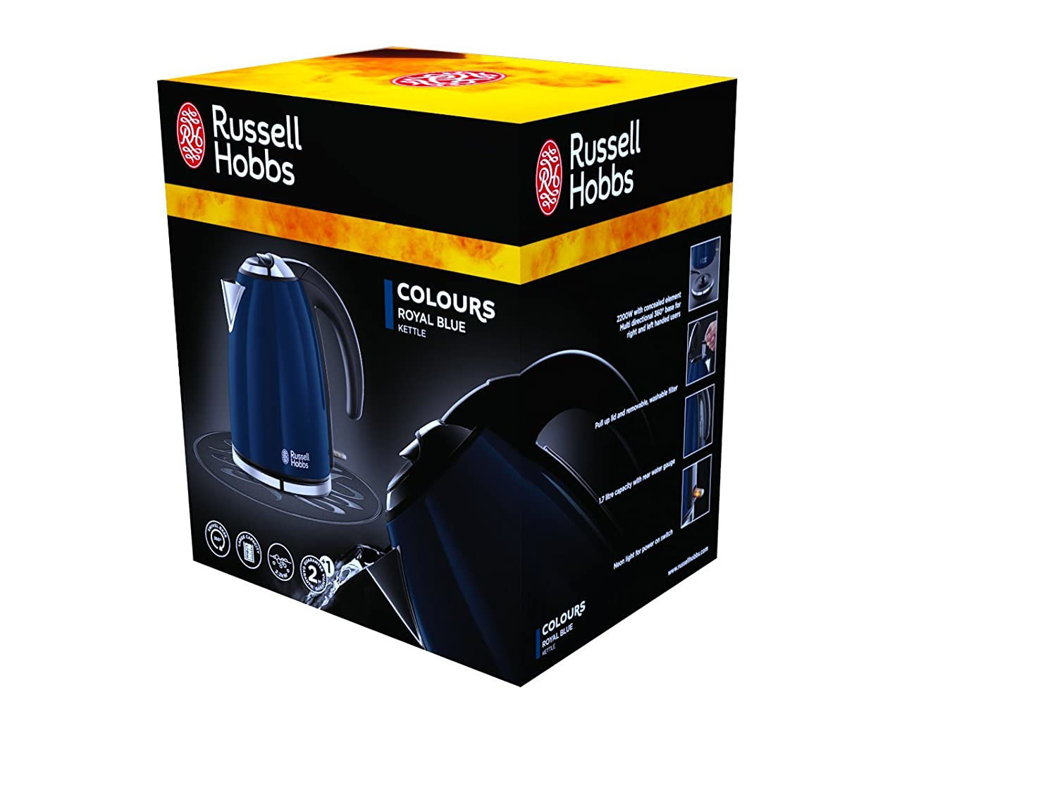 Picture of Russell Hobbs 18947-70 Colors Royal Blue - Kettle, 1,7 l, hidden resistance, 2200 W