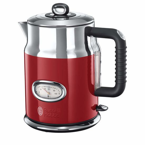 Picture of Russell Hobbs 21670-70 Electric Kettle Retro Ribbon red-21670-70, Stainless Steel, 2400 W, 1.7 liters, red