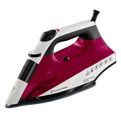 Picture of Russell Hobbs Auto Steam Pro Non-Stick Iron, 2400 W - White and Red