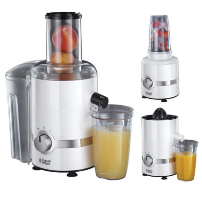 صورة Russell Hobbs 3-in-1 Juicer, Press and Blender 22700 - White
