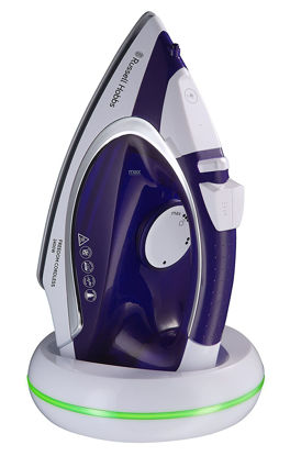 صورة Russell Hobbs 23300 Freedom Cordless Iron, 2400 W, Purple/White