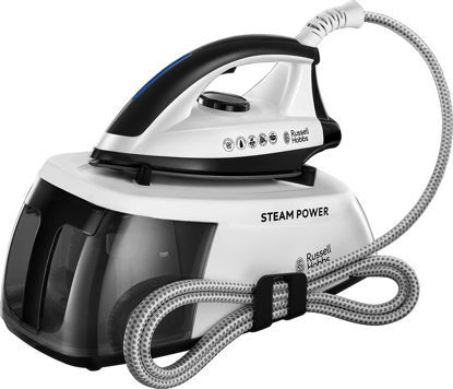 صورة Russell Hobbs 24420 Power 90 Station, Series 1 Steam Generator, 2400 W, 1.3 Litre, Black/White