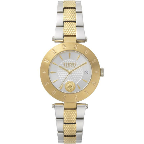 Picture of Ladies Versus Logo Silver Dial On Two Tone Bracelet Watch