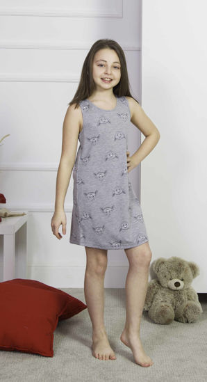 صورة ENKI GIRLS COTTON GRAY MELANGE TUNIC SET