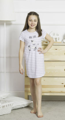 Picture of GIRLS TUNIC GRAY MELANGE COTTON