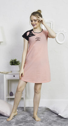 Picture of WOMEN TUNIC BABY PINK COTTON