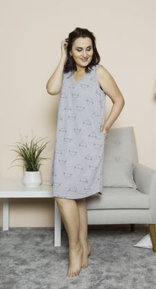 Picture of WOMEN XXL TUNIC GRAY MELANGE COTTON