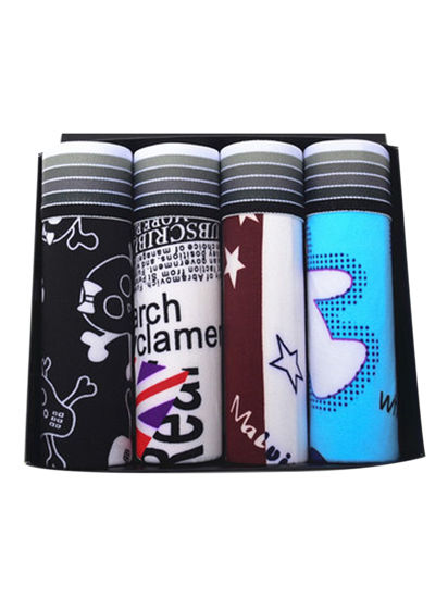 Picture of Men's Boxer Shorts Cartoon Fashion Breathable Gift Box Elastic Comfy Boxers - Size: XXL