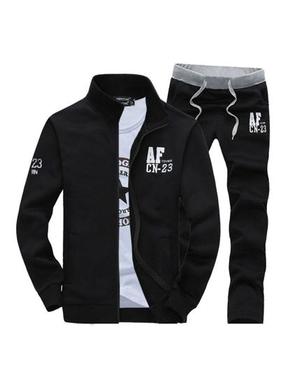 Picture of Men's Activewear Sets 2Pcs Simple Fashion High Quality Casual Suits - Size: XL