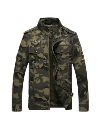 Picture of Men's Jacket Camouflage Zipper Fashion Casual Cozy Coat - Size: XL