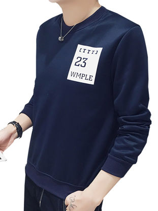 Picture of Men's Sweatshirt Long Sleeve All Match Casual Comforty Sweatshirt - Size: L