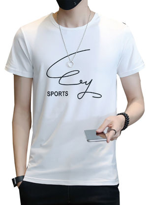 Picture of Men's T Shirt O Neck Brief Design Comforty Slim Casual T Shirt - Size: M