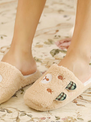 Picture of Home Slippers Voguish Popular Lovely Closed Toe Supple Floor Slippers - Size: 42-43