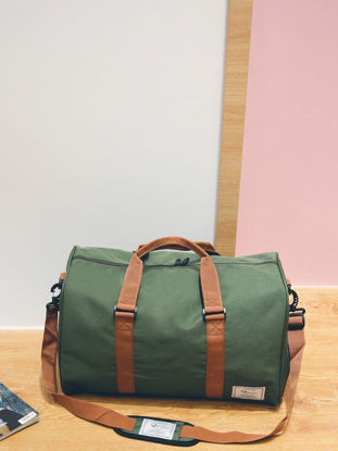 Picture of Men's Travel Bag Casual Sports Outdoor Zipper Design Patchwork Bag - Size: One Size