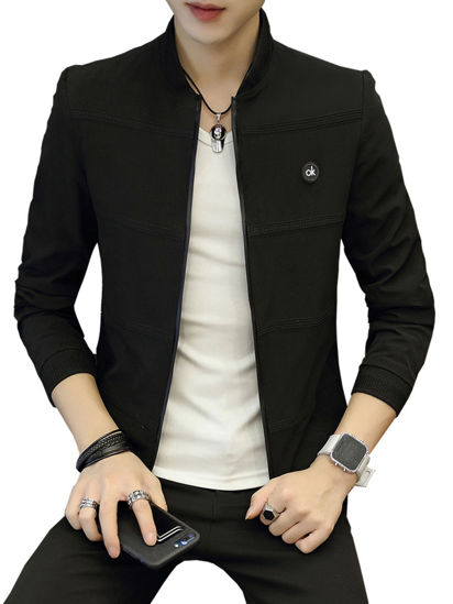 Picture of Men's Casual Jacket Zipper Vogue All Match Jacket - Size: XL