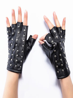 Picture of Women's Gloves Personalized Retro Rivets Ornament Trendy Gloves Accessory - Size: One Size