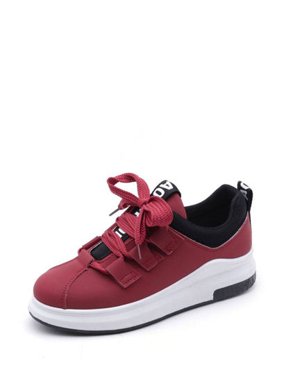 Picture of Women's Lacing Fashion Sneakers Comfy Breathable Leisure Shoes - Size: 39