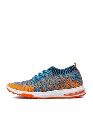 Picture of Men's Sports Fashion Shoes Color Block Breathable Durable Trendy Outdoor Shoes - Size: 42