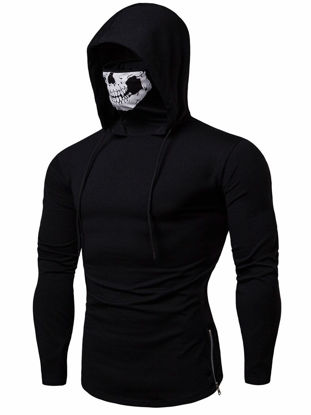 Picture of Men's Hoodie Fashion Zipper Slim Hoodie - Size: XL
