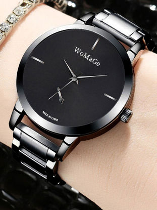 Picture of Women's Fashion Watch Trendy Simple Exquisite Round Dial Steel Band Quartz Watch - Size: One Size
