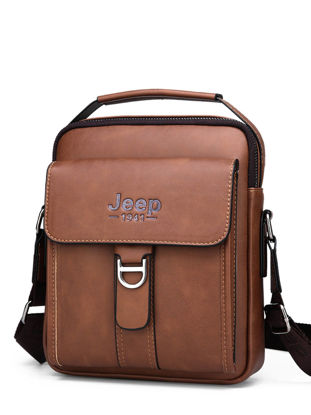 Picture of Men's Crossbody Bag Adjustable Strap Plain Style Bag - Size: Free