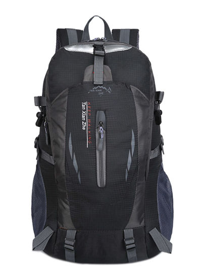 Picture of Men's Backpack Color Block Large Capacity Outdoor Bag - Size: One Size