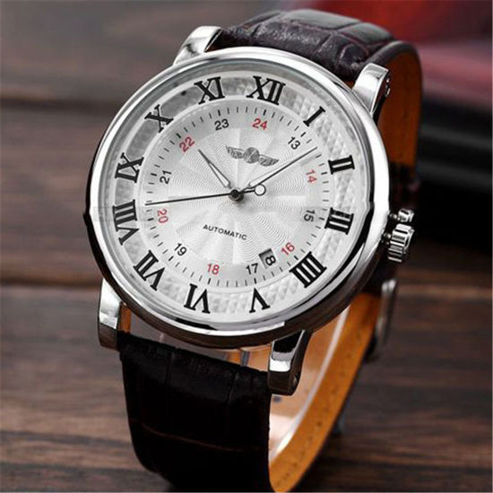 Picture of Men's Fashion Watch Business Automatic Mechanical Wristwatch Accessory - Size: One Size