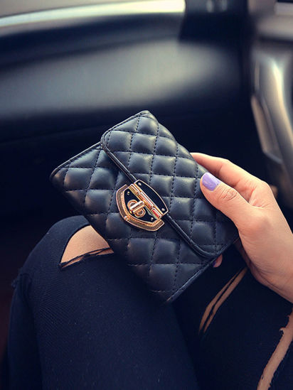 Picture of Women's Wallet Plain Style Durable Mini Bag - Size: One Size