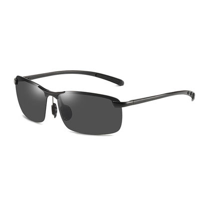 Picture of Men's Sunglasses UV Protection Half Frame Polarizing Eyewear - Size: One Size