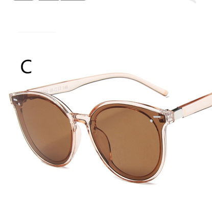 Picture of Men's Sunglasses UV Protection Big Round Frame Chic Eyewear - Size: One Size
