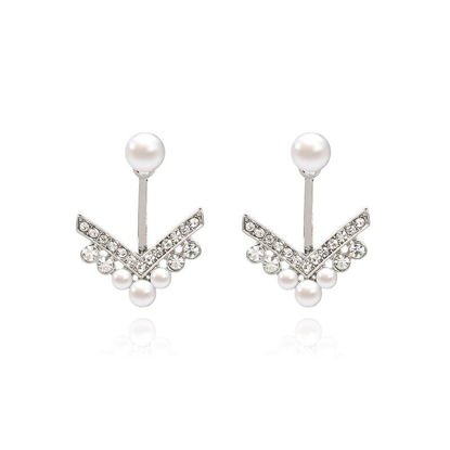 Picture of Women's Drop Earrings 925 Sterling Silver Fresh Earrings Accessory - Size: One Size