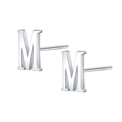 Picture of Women's Studs Letter M Design All Match Solid Color Simple Accessories - Size: One Size