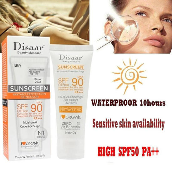 Picture of Sunblock Whiten Cream Waterproof Long Lasting Face Body Skin SPF90 Sunscreen PA+++ -