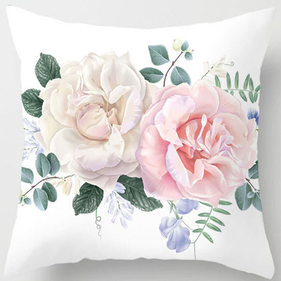 Picture of One Piece Cushion Case Comfortable Simple Rose Pattern Soft Pillowcase - Size: One Size