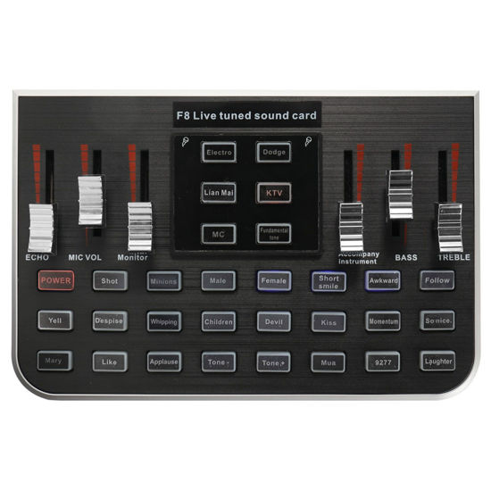 Picture of Studio Audio Mixer Microphone Sound Card Professional Audio Accessory Webcast Live Sound Card - Size: One Size