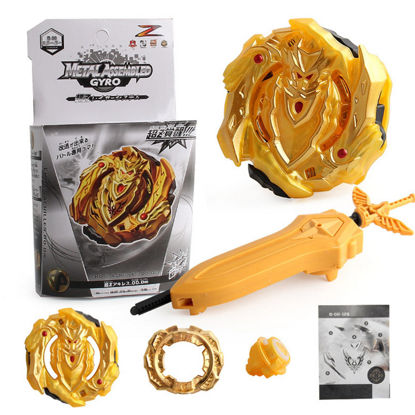 Picture of Kid's Spinning Top Golden Version Alloy Combat Gyroscope Toy With Two-Way Launcher Creative Toy - Size: One Size
