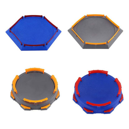 Picture of Kid's Spinning Top Geometric Shape Burst Blasting Gyro Disk Assembly DIY Competitive Gyro Plate Creative Toy - Size: One Size