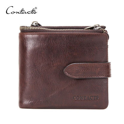 Picture of CONTACT'S Men's Purse Casual Vintage Snap Closure Simple Bag - Size: One Size
