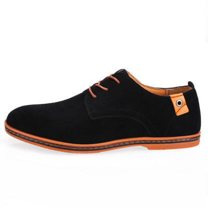 Picture of Men's Casual Oxfords Lacing Vintage Comfortable Casual Shoes - Size: 42