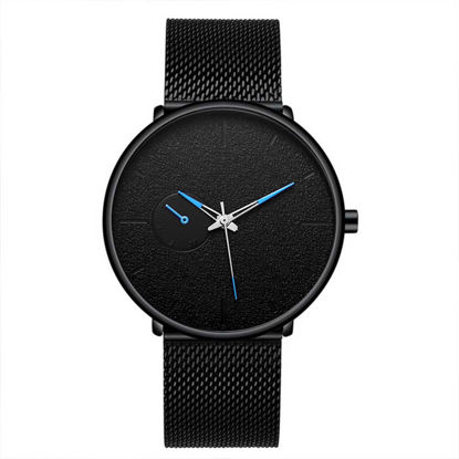 Picture of Men's Quartz Watch Big Dial Waterproof Dark Color Outdoor Watch - Size: One Size