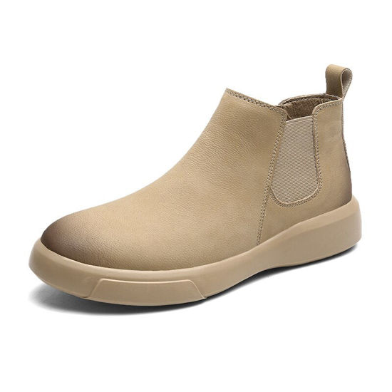 Picture of Men's Chelsea Boots High Quality Solid Color Comfortable Simple Shoes - Size: 41