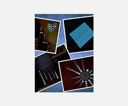 Picture of 1 Bag Wall Decorative Stickers Simple Luminous Dots Home Decor
